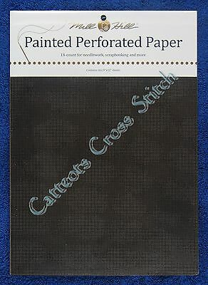 Perforated Paper for Cross Stitch Midnight Black 14 Count Mill Hill Painted