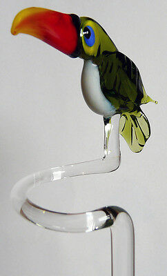 Orchids Orchids Orchid Rod NEW WITH TOUCAN Glass Figure