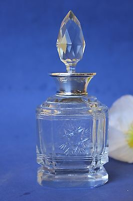 Art Deco, Silver necked Perfume bottle.