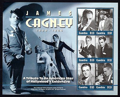 Gambia 2002 James Cagney Sheetlet 6 MNH