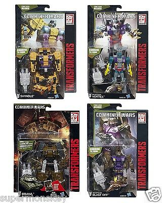 Transformers Combiner Wars Deluxe Blast Off Swindle Vortex Brawl Action Figure