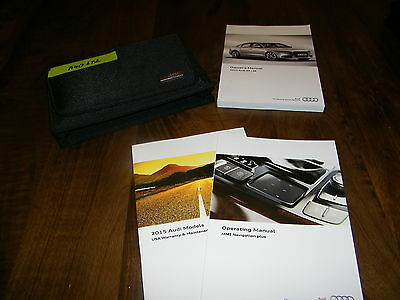 2015 Audi A6 owners manual with case and navigation  Aud632