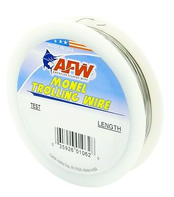 Fishing Line AFW H020-4 Monel Trolling Wire 20Lb Soft Wire 300' .018 Dia