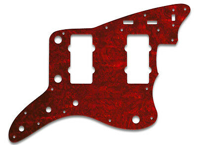 Pickguard For Fender® Jazzmaster® -Tortoise Shell Style Red 4 Ply