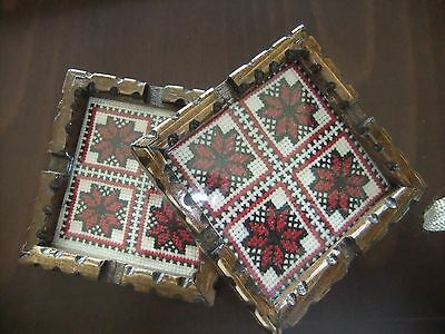 1 Pair of Embroidered , all Handmade Palestinian embroidery,craft,Decor Ashtrays