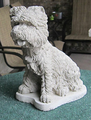 Concrete West Highland Terrier Statue Or Use As A Monument (Westie)