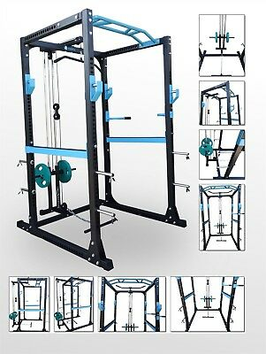 BodyRip PRO Power Rack & Lat Pull Down Squat Cage Row Seated Arm Curl