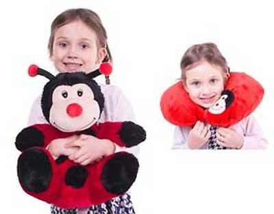 New Cozy Time Ladybird Funky Travel Pal Child's Neck Support Cushion & Soft Toy