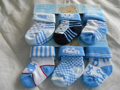 3 Pack Baby Boy Socks - Various Designs, Stay On Well