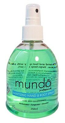 MUNDO Sanitizing Hand & Foot Spray 250ml sanitizes hands and feet FREE P&P
