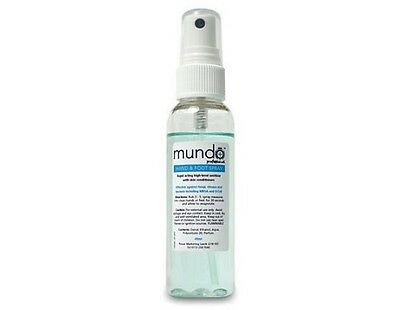 MUNDO Sanitizing Hand & Foot Spray 60ml sanitizes hands and feet FREE P&P