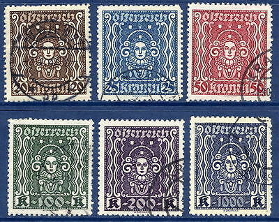 AUSTRIA 1922-24 Definitive set perforated 11½ used