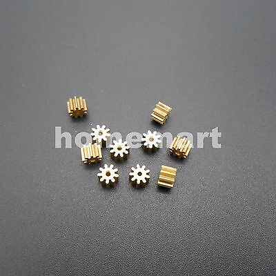 10PCS NEW 91A Brass Gear 0.4 Modulus T=9 Aperture 0.97 mm 9 Teeth Model 9T Metal