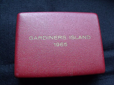 Gardiners Island 1965 Potential Silver Substitutes 3 Coin Set In Box