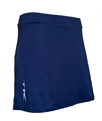 Womens Medium TK Sentosa Skort NAVY Hockey Netball Tennis blue skirt