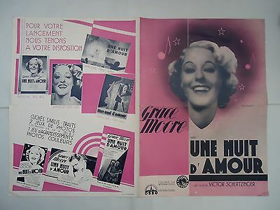 GRACE MOORE/A NIGHT OF LOVE/huge french pressbook