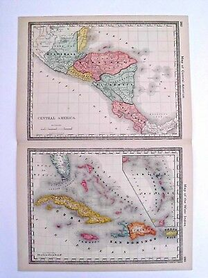 Rare 1885 Hardesty's Central America - West Indies map.