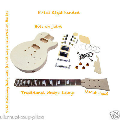LP x 5 types LP Kits Student & Luthier Electric Guitar DIY Projects.