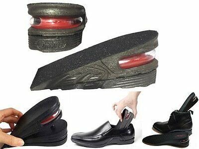Height Increase Shoe Insoles  Heel Lift 5Cm Air Bubble Cushion Unisex Washable