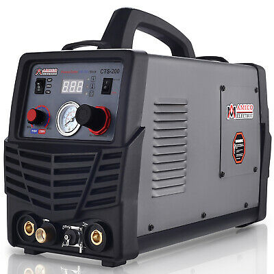 CTS-200 Amp HF-TIG Torch, Stick Arc DC Welder & 50A Plasma Cutter 3-in-1 Combo