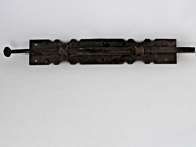 "Antique Large Hand Forged Iron Slide Latch 23"" Long"