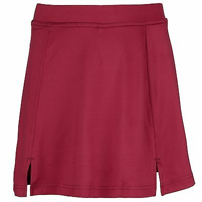 RHINO Girls Maroon Sport Skort - Sportswear for Netball, Hockey, Badminton