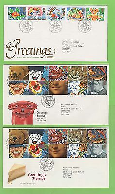 G.B. Collection of 10 Greetings First Day Covers