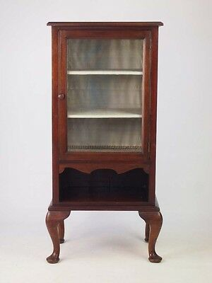 Antique Edwardian Mahogany Music Cabinet -Small Pier Hall Cupboard Bookcase Unit