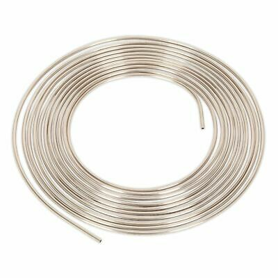 "Sealey Brake Pipe Seamless Tube Cupro-Nickel 22 Gauge 3/16"" x 25ft BS EN 12449"