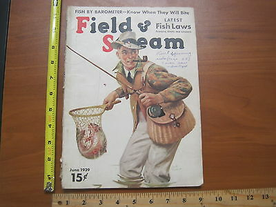 Vintage hunting fishing trapping Magazine Field & Stream June 1939