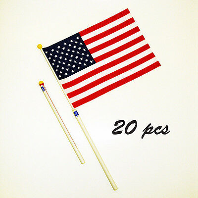 20 pcs of 10x14in USA Flag Tube, Scroll-able for Easy Carrying (RC100-U)