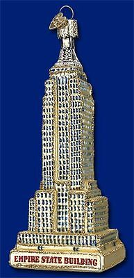 """Empire State Building"" (20059) Old World Christmas Glass Ornament"