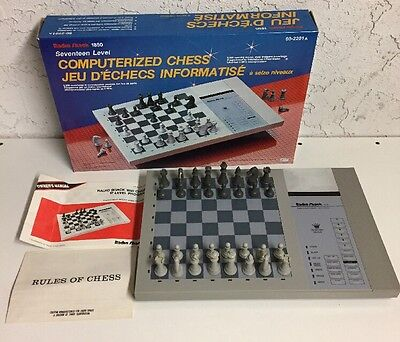 Vintage Radioshack 17 Level Computerized Chess 60-2201A Electronic Board Game