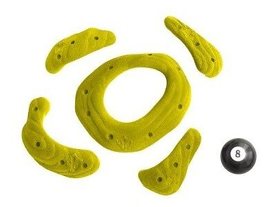 Atxarte Sandstone Screw-On Climbing Holds, Yellow