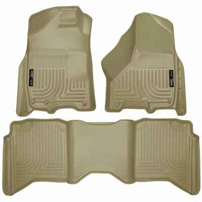 Husky Liners WeatherBeater Front/2nd Seat Floor Mats Tan For Dodge Ram CC 09-15