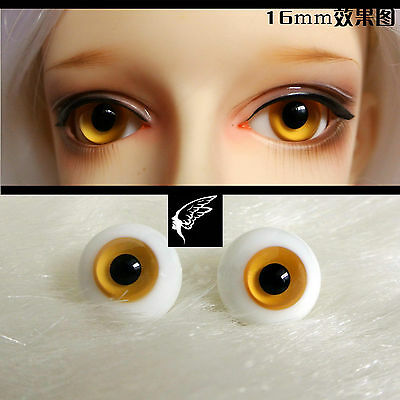 ET30 #14mm Green Flowers Shinny Pupil Glass Eyes For BJD Doll Dollfie Outfit
