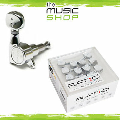 Graph Tech Ratio Tuned Machine Heads - 6 In Line, Round Vintage Buttons - GTR473