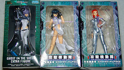 NEW Set of 3 Ghost in the Shell Extra figure-Figures SEGA, USA SELLER FREE S/H