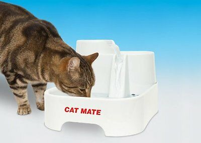 New CatMate Pet Water Drinking Fountain Carbon Filtered Cat Dog Fresh Flow Bowl