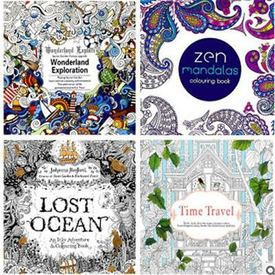 12 Page Books An Inky Treasure Hand Painting Coloring Book For Kids Adults - SS