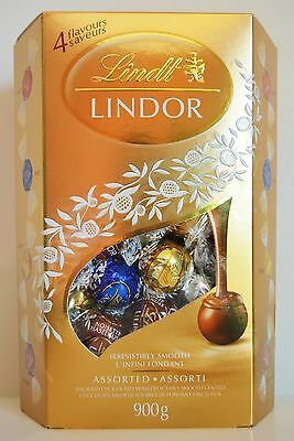 Lindt Lindor Assorted Chocolate Delectably Smooth Centres 900g/31.7oz 4 Flavours