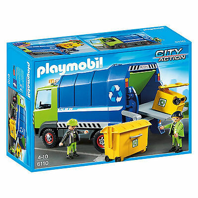 NEW PLAYMOBIL CITY 6110 RECYCLING TRUCK with 2 FIGURES PLAYSET EDUCATIONAL TOY