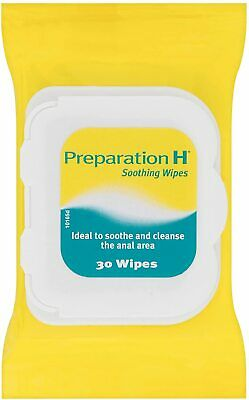 New Preparation H Soothing 30 Wipes