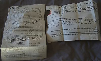 2 Vellum Documents related to People in Bristol, 1880