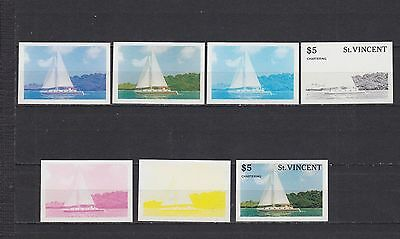 T09412 St. Vincent postfr./mnh proof Segeln sailing