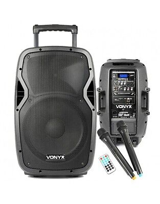 ST-090 Skytec 250Watts 12inch Portable PA USB SD media player rechargeable batte