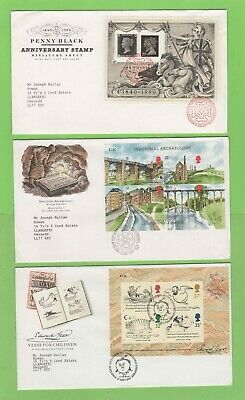 G.B. Collection of Eight Miniature Sheet First Day Covers