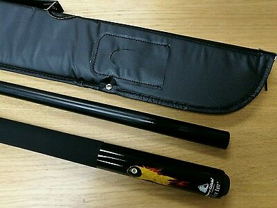 Powerglide Fireball Simulated Graphite 2pc Pool Snooker Cue 10mm Tip