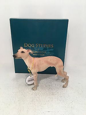 Dog Studies by Leonardo Tan Brown Whippet Figurine Ornament *BRAND NEW BOXED*