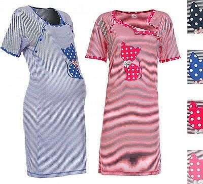 Happy Mama. Women's Maternity Hospital Gown Nightie for Labour & Birth. 891p